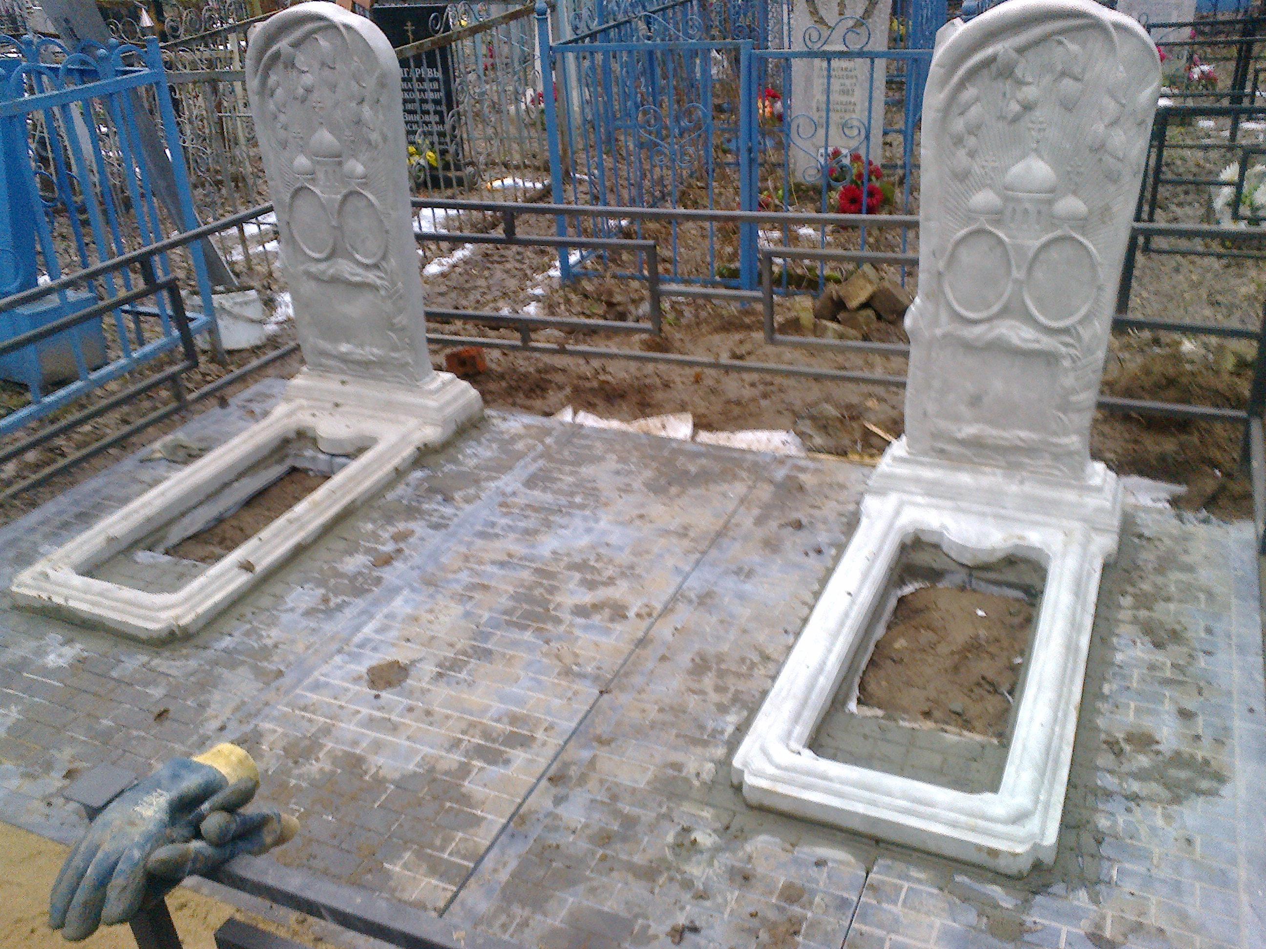 Цветник из бетона на могилу купить как готовить цементный раствор для кладки кирпича